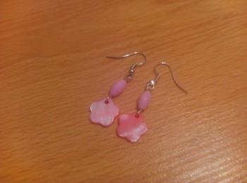 Korálkové naušnice růžové